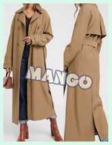 MANGO Casual Style Long Trench Coats