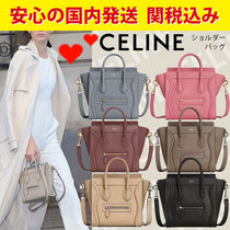 CELINE Luggage 2WAY Leather Crossbody Shoulder Bags