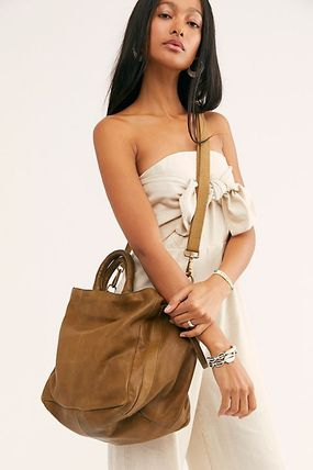 Casual Style 2WAY Leather Totes