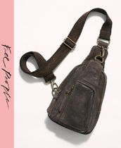 Free People Casual Style Suede Shoulder Bags