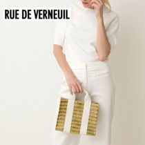 RUE DE VERNEUIL Other Check Patterns Casual Style Canvas 2WAY Bi-color