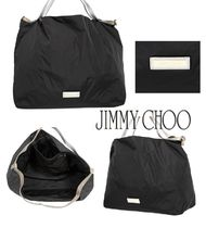 Jimmy Choo Casual Style Nylon Plain Leather Office Style Totes