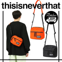 thisisneverthat Casual Style Unisex Nylon Street Style 2WAY Shoulder Bags