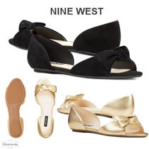 Nine West Open Toe Rubber Sole Suede Plain Leather Party Style