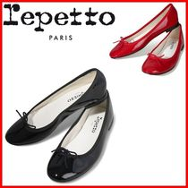 repetto Round Toe Casual Style Studded Street Style Plain Leather