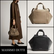 Massimo Dutti Plain Leather Boston & Duffles