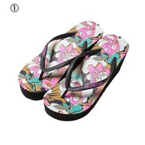 Billabong Flower Patterns Flip Flops Flat Sandals
