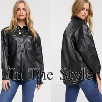 IN THE STYLE Casual Style Faux Fur Street Style Long Sleeves Plain Medium