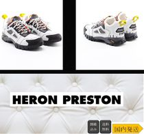Heron Preston Street Style Leather Sneakers