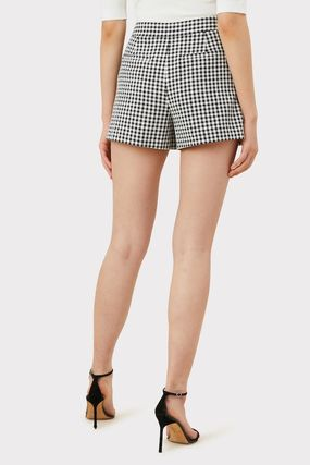 Short Gingham Casual Style Shorts