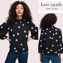 kate spade new york Heart Flower Patterns Casual Style Long Sleeves Plain
