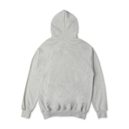 Unisex Street Style Plain Cotton Hoodies & Sweatshirts
