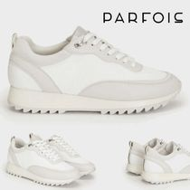 PARFOIS Plain Toe Rubber Sole Casual Style Low-Top Sneakers