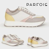 PARFOIS Platform Plain Toe Rubber Sole Casual Style Low-Top Sneakers