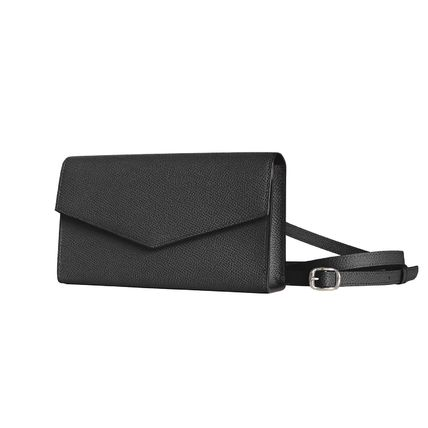 Crossbody Logo Casual Style Plain Leather Street Style