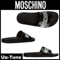 Moschino Unisex Shower Shoes PVC Clothing Shower Sandals