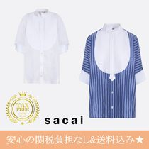 sacai Stripes Casual Style Blended Fabrics Street Style