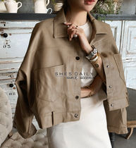 Short Casual Style Medium Jackets