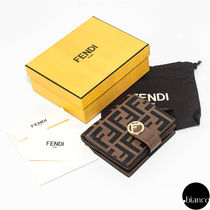 FENDI F IS FENDI Monogram Calfskin Folding Wallets