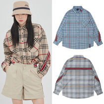 ROMANTIC CROWN Other Check Patterns Casual Style Unisex Street Style