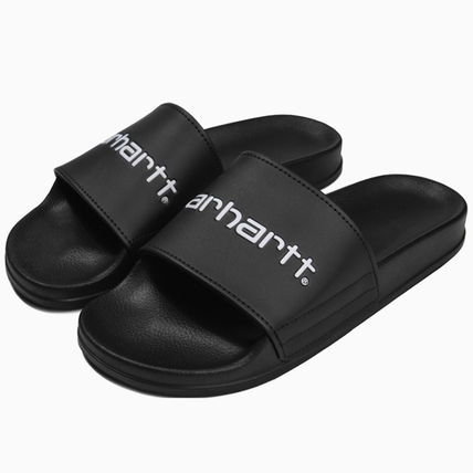 Casual Style Unisex Shower Shoes Slippers Logo Flat Sandals