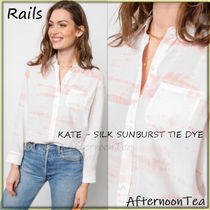 Rails Silk Tie-dye Long Sleeves Medium Handmade Shirts & Blouses