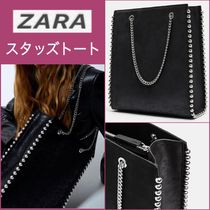 ZARA Casual Style Faux Fur Blended Fabrics Studded A4 2WAY Chain