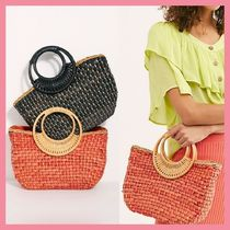 Free People Casual Style Bi-color Plain Totes