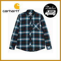 Carhartt Other Check Patterns Casual Style Unisex Long Sleeves Cotton