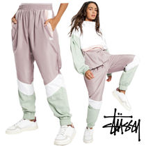 STUSSY Casual Style Nylon Bi-color Long Culottes