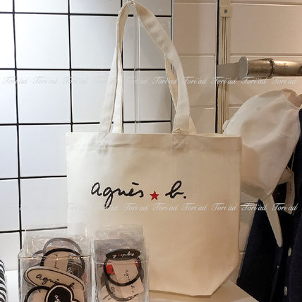 Star Casual Style Unisex Logo Totes