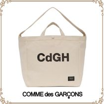 COMME des GARCONS Casual Style Unisex Canvas A4 2WAY Plain Totes
