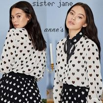 Sister Jane Heart Long Sleeves Party Style Shirts & Blouses