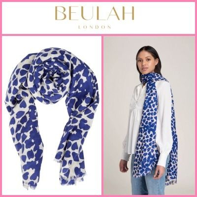 Beulah London Heart Casual Style Wool Silk Blended Fabrics Street Style