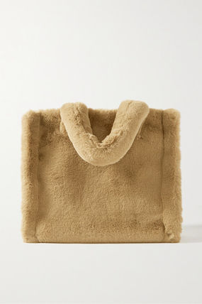 Casual Style Faux Fur Plain Party Style Totes