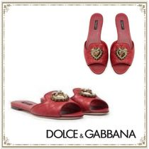 Dolce & Gabbana Monogram Casual Style Plain Leather Party Style