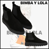 bimba & lola Rubber Sole Casual Style Suede Blended Fabrics Plain