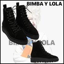 bimba & lola Rubber Sole Casual Style Suede Plain Office Style