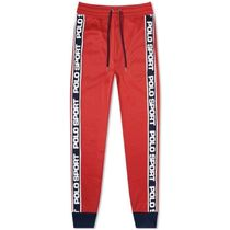 POLO RALPH LAUREN Tapered Pants Unisex Street Style Plain Logo Tapered Pants