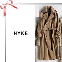 Hyke Plain Long Office Style Trench Coats