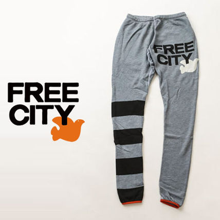 Stripes Sweat Street Style Logo Bottoms
