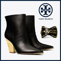 Tory Burch Casual Style Leather Block Heels Party Style Office Style