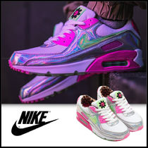 Nike AIR MAX 90 Leopard Patterns Casual Style Unisex Street Style Logo
