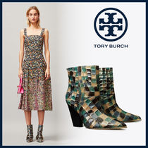 Tory Burch Casual Style Other Animal Patterns Leather Block Heels