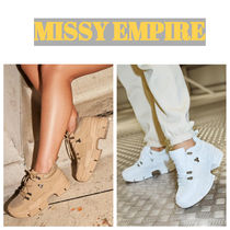 MISSY EMPIRE Street Style Plain Low-Top Sneakers