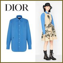 Christian Dior Casual Style Long Sleeves Plain Cotton Long Elegant Style