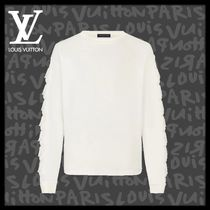 Louis Vuitton Crew Neck Pullovers Long Sleeves Plain Cotton