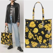 VERSACE JEANS Unisex Street Style Totes
