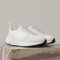 CLOSED Suede Blended Fabrics Plain Leather Sneakers