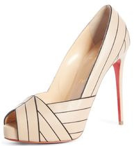 Christian Louboutin Platform Casual Style Street Style Bi-color Leather